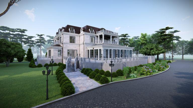 Частный дом в классическом стиле на 6 спален