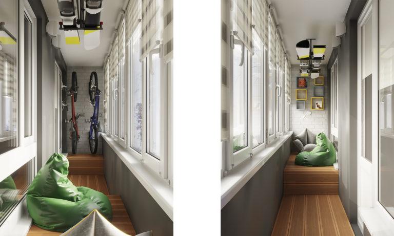 Дизайн интерьера балкона, лоджии. Переделка лоджии, балкона